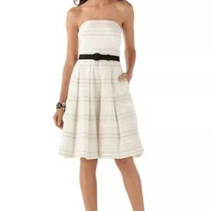 White House Black Market Ivory Strapless Dress 4